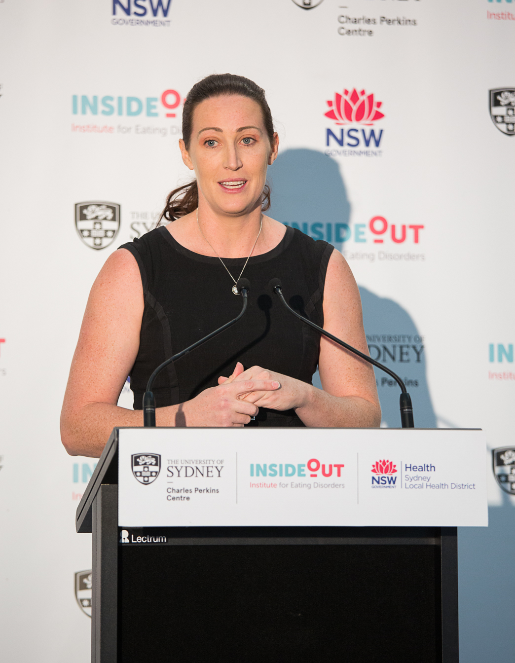 Olympic hurdler and InsideOut Institute ambassador Jana Pittman at the launch of the InsideOut Institute