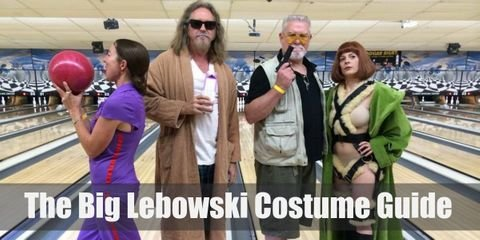 Dress like Walter Sobchak, The Dude, Maude Lebowski, Bunny Lebowski, Jesus Quintana, Jeff Lebowski from The Big Lebowski Movie.