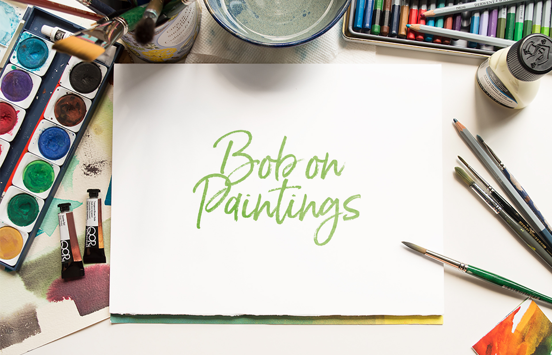 Logo design for watercolour artist, Bob on Paintings (Bob Sutcliffe)
