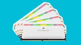 The Corsair Dominator Platinum RGB memory kits are now available in white