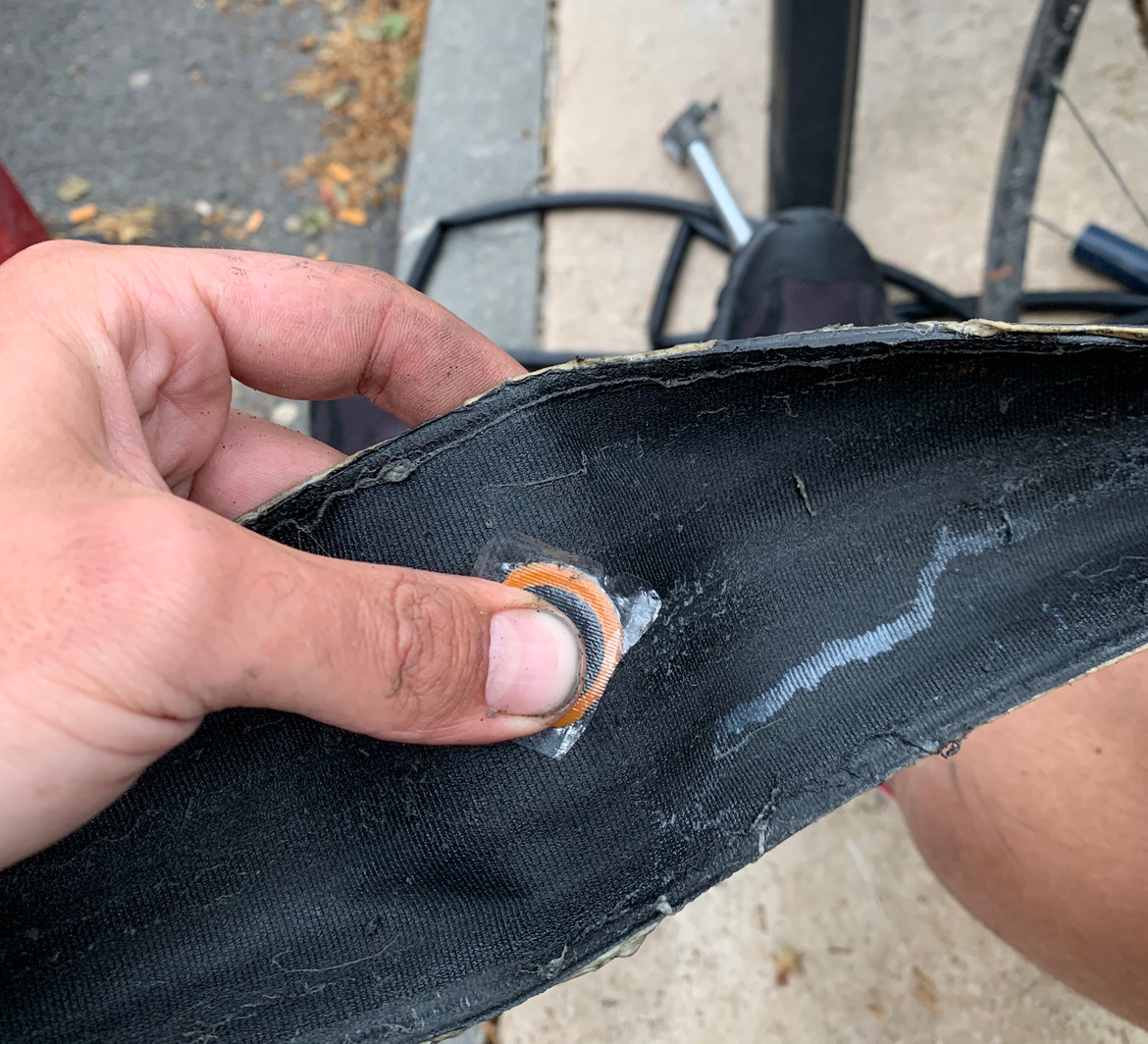 A big enough tyre hole can chew on tubes