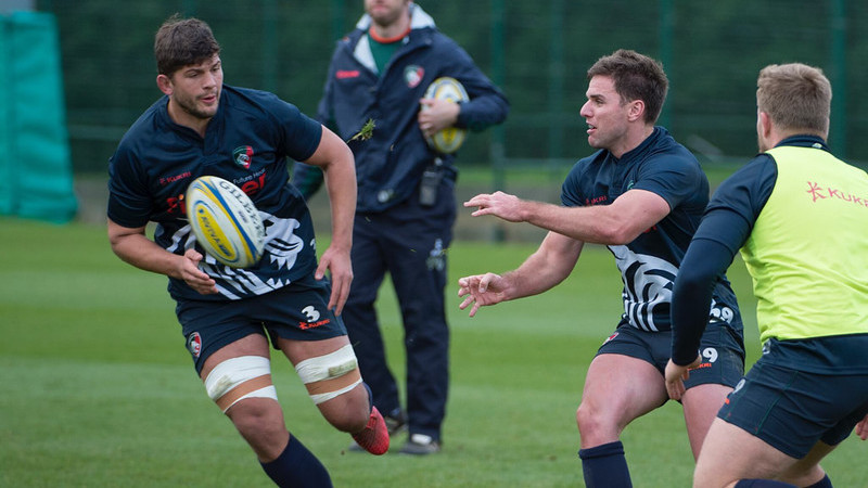 Leicester Tigers practice rugby gameplay