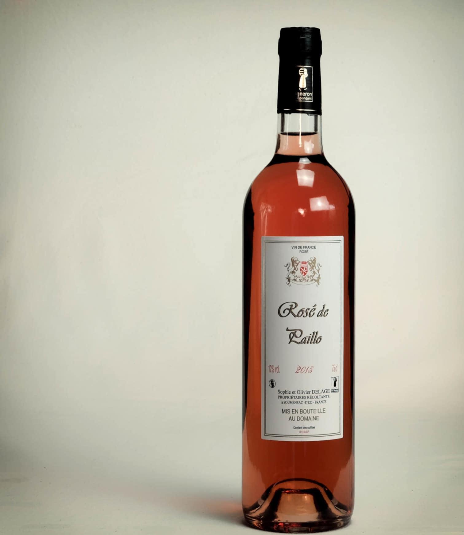 bouteille de vin rosé sucré