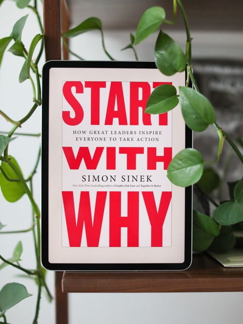 Photo of the book cover of 'Start with Why'