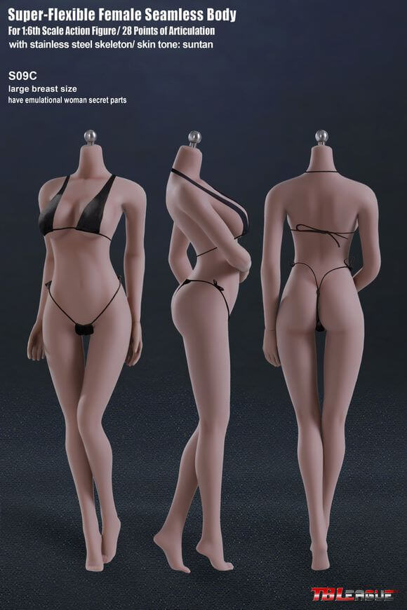 TBLeague Phicen S09C 1/6 Super Flexible Seamless Female Large Bust Suntan Body