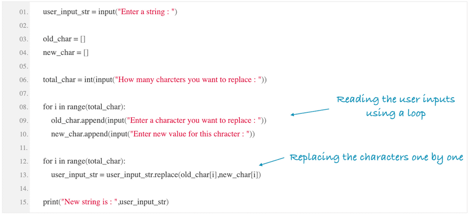 python replace single or multiple character in string