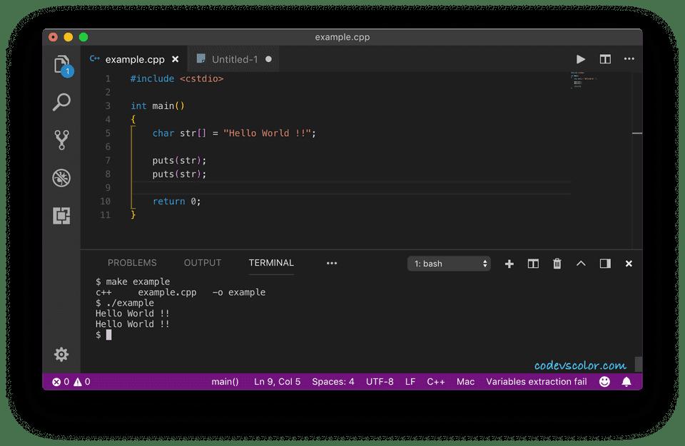 C++ puts()