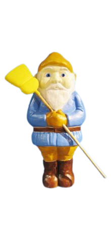 Elf With Broom photo