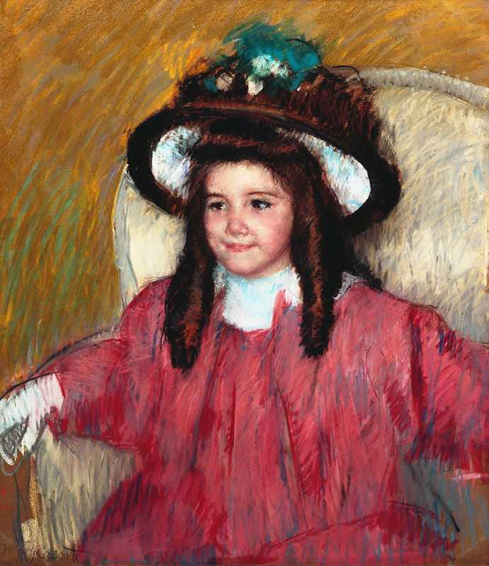 'Portrait d'Anne-Marie Durand-Ruel', by Mary Cassatt in 1908