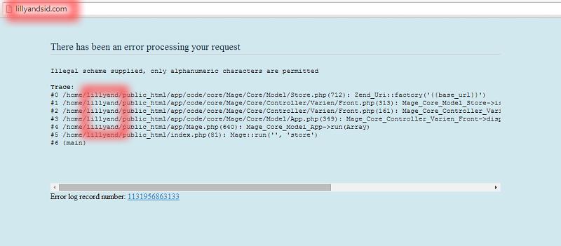 lillyandsid error page