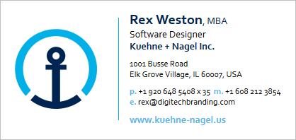 Kuehne + Nagel Email Signature