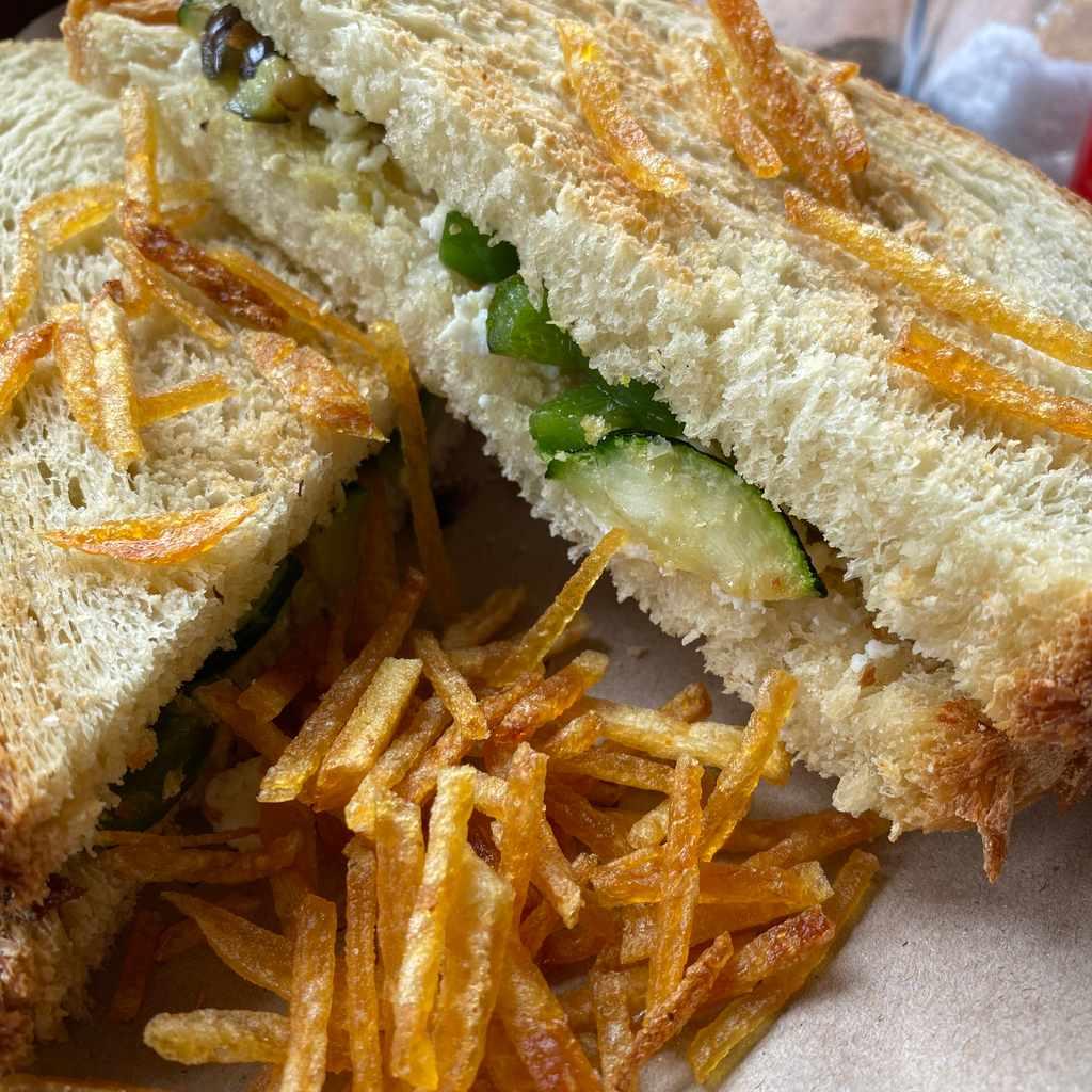 sandwiches: panino vegetariano