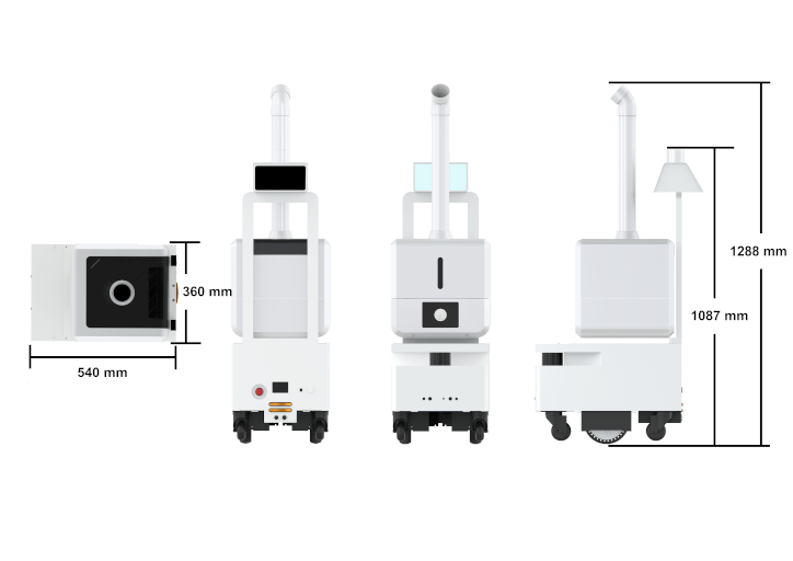 disinfection spray robot technical specifications