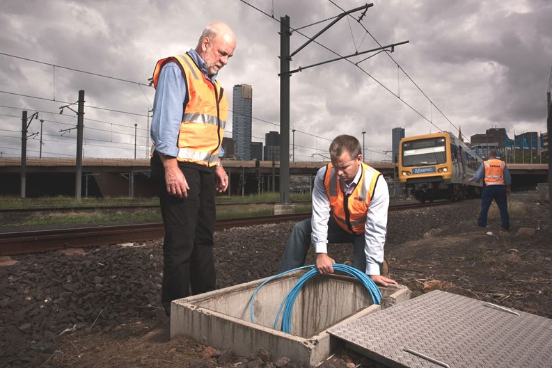 Surveying rail equipment with Fulcrum