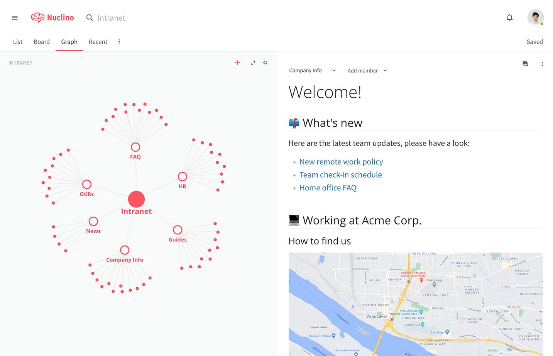 Company intranet portal