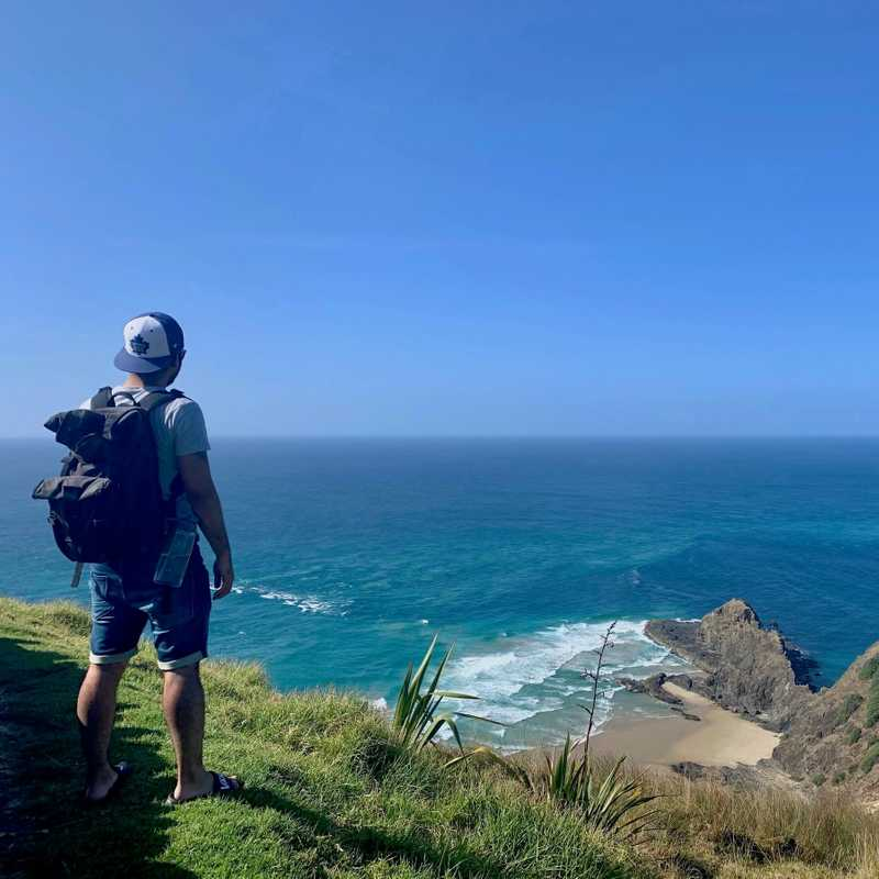 looking over cape reinga