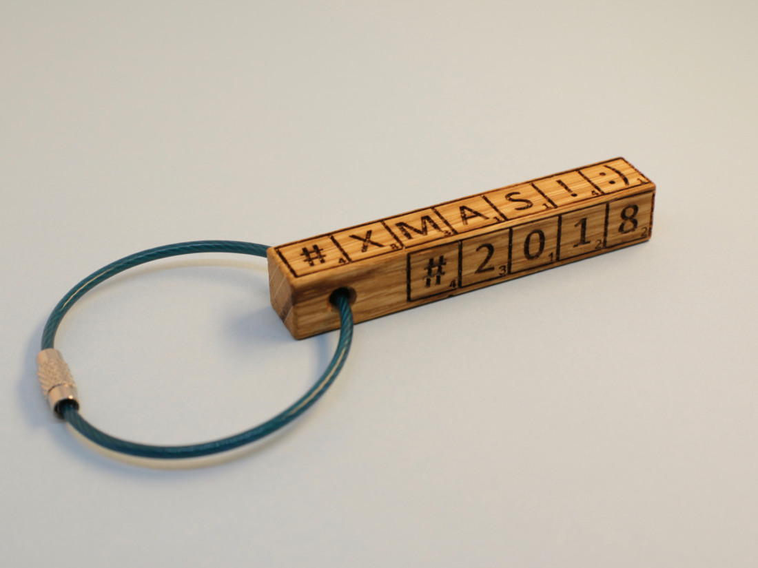 Schlüsselanhänger im Kästenchenlook.