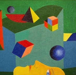 "Sigurdur Thórir, Iceland. ""Astonishing World"" 1998. canvas, oil, 40x40cm"