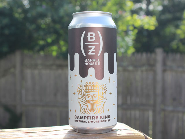 Campfire King, an Imperial S'more Porter brewed by Barrel House Z