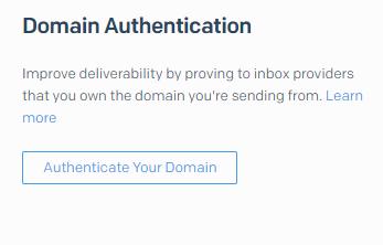 Domain Authentication