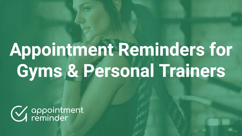 Fitness and personal trainers, gym, and yoga services | AppointmentReminder.com