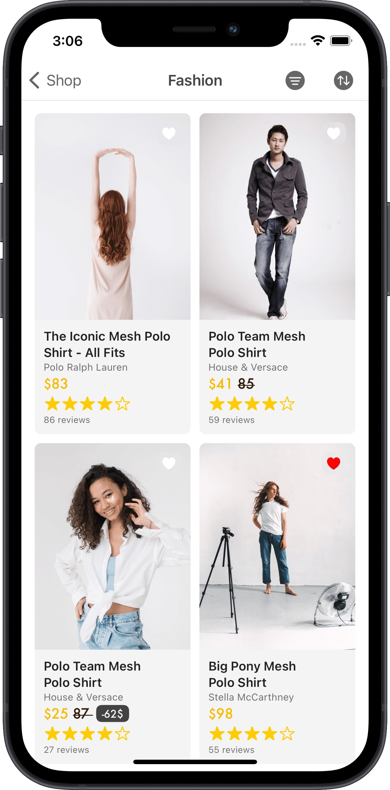e-commerce, women, shirts, sales