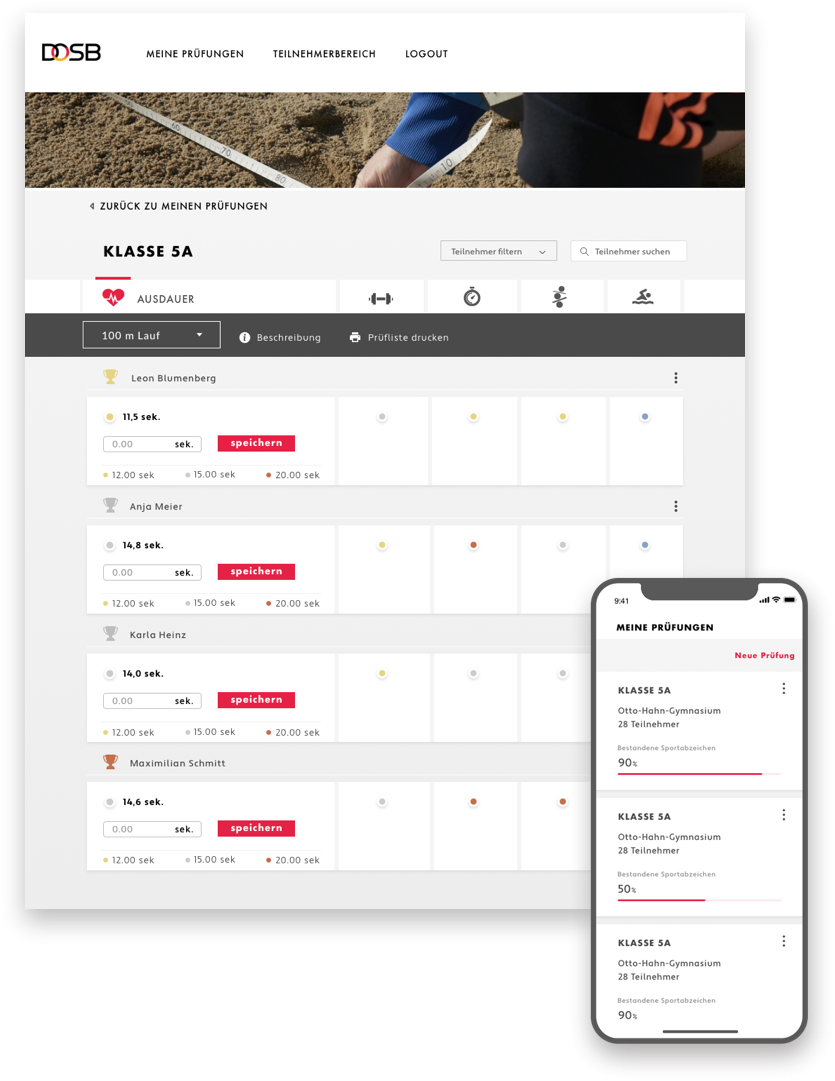 Sportabzeichen app bottom