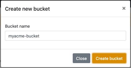 Filebase Bucket creation form
