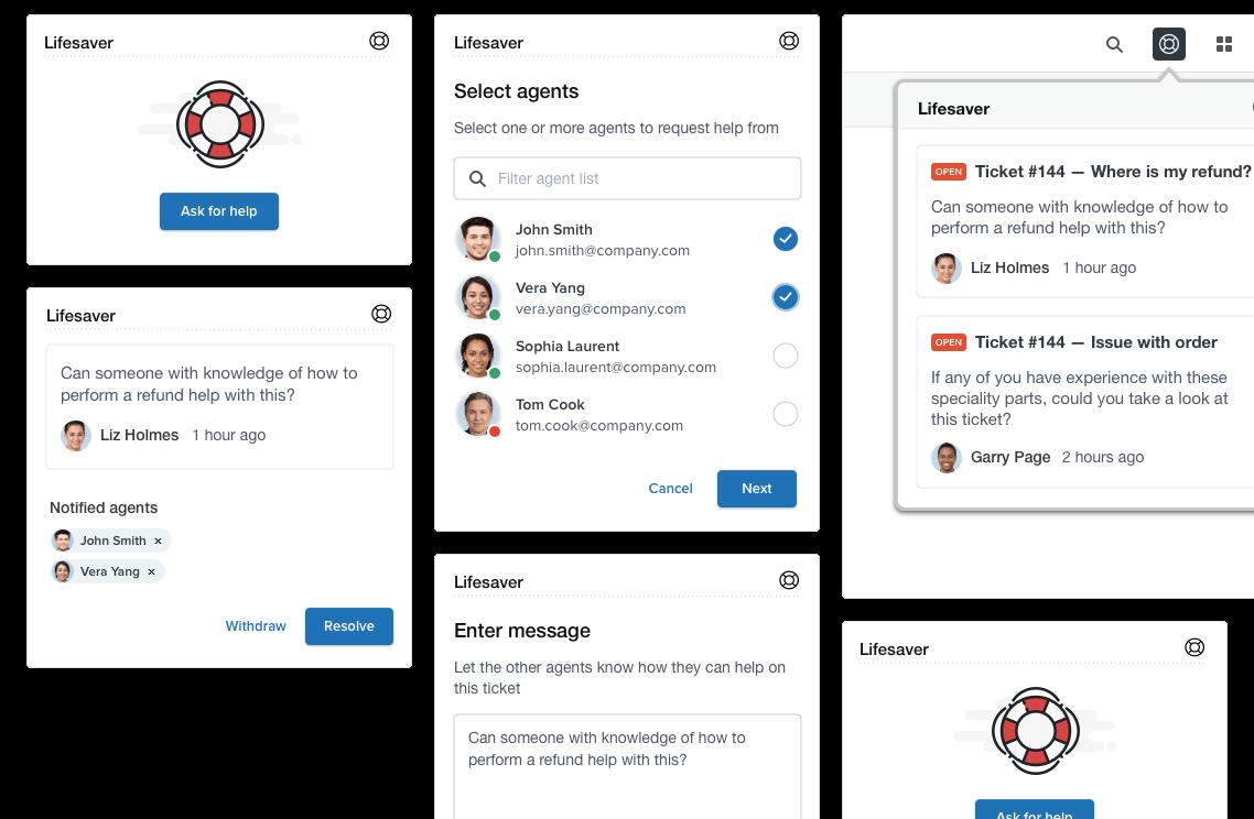 Lifesaver notification app for Zendesk Support