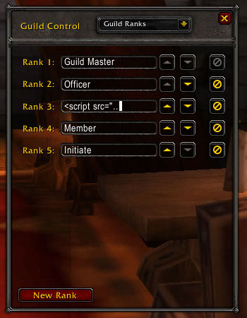 An abnormal guild rank name