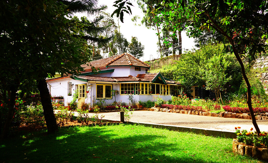 View of the bungalow from the garden