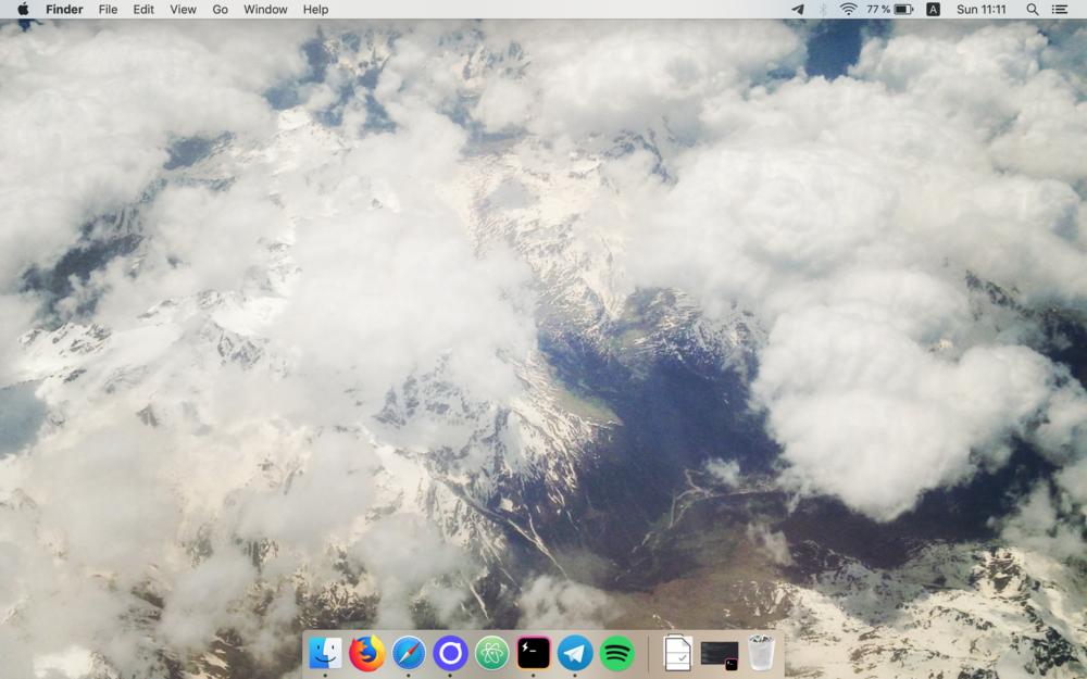 Screenshot of my desktop