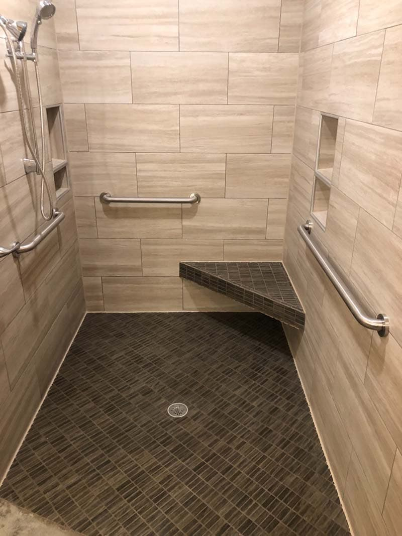 walk-in shower after remodel by CorHome