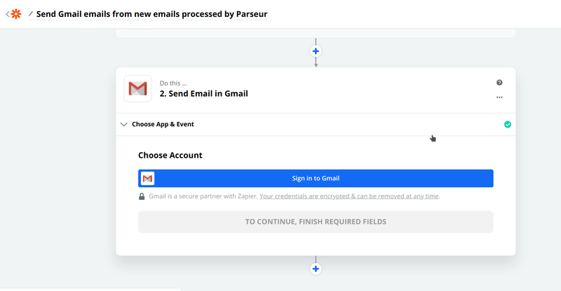 Follow instructions to connect your Gmail to Zapier