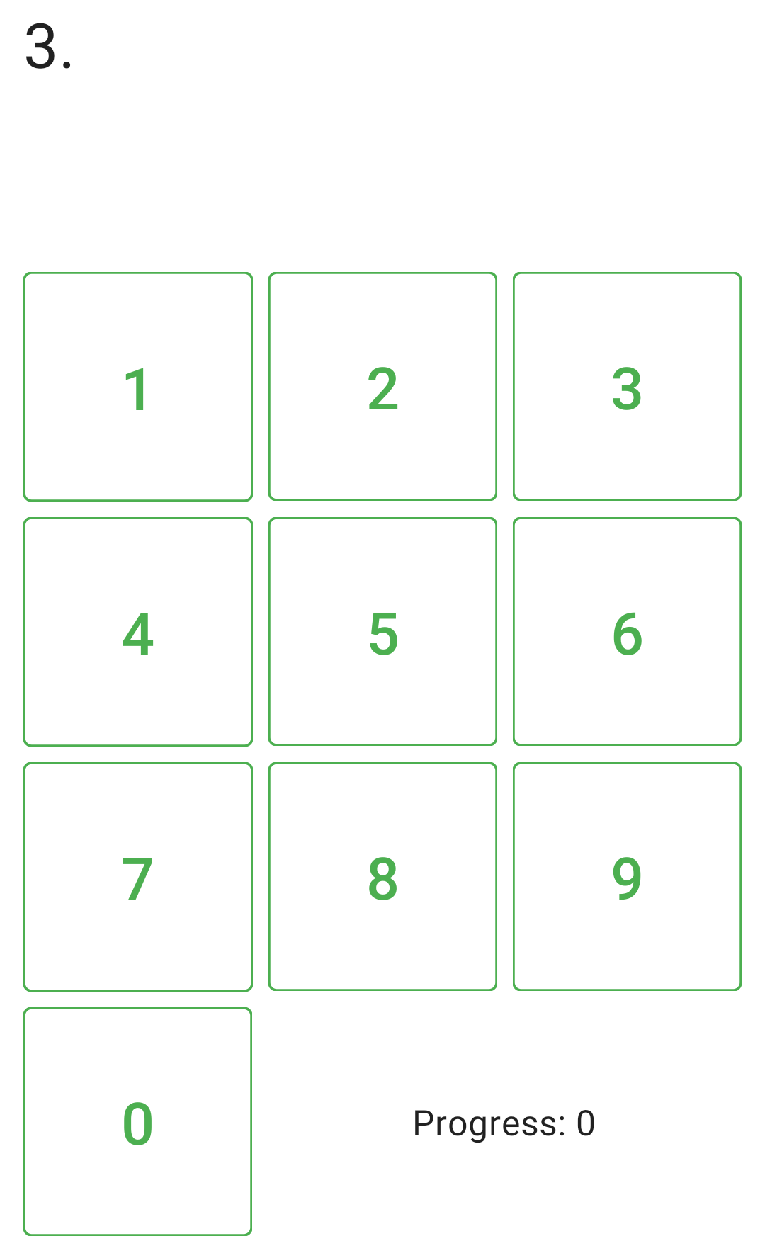 The completed keypad