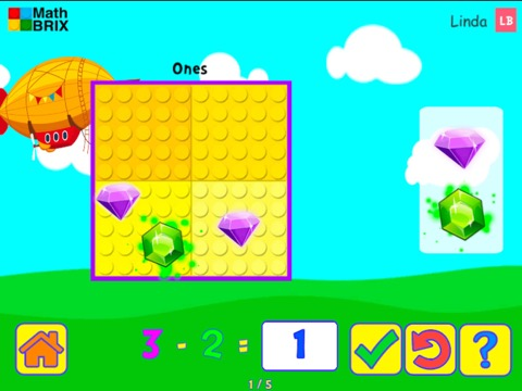 Minicomputer: Subtraction within 10 (no splitting) Math Game