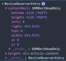 ResizeObserver Entry