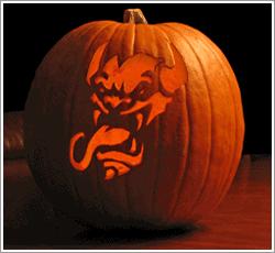Tongue Lashing pumpkin carving