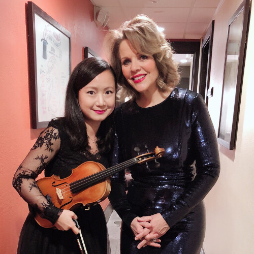 Performing with Renee Flemming and the Fort Wayne Philharmonic
