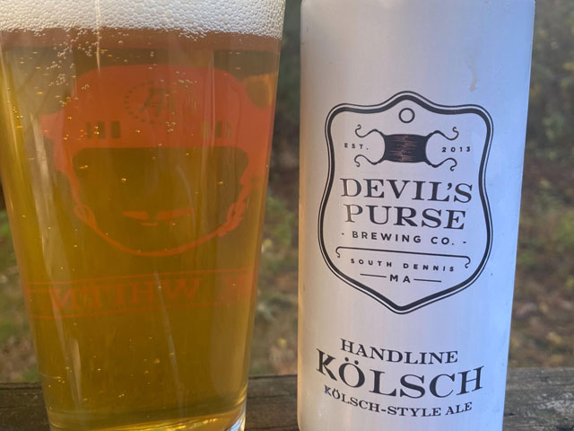 Handline Kolsch is brewed by Devil's Purse Brewing Company