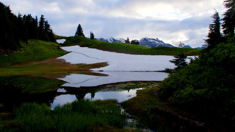 Clark Mountain viewed from Reflection Pond