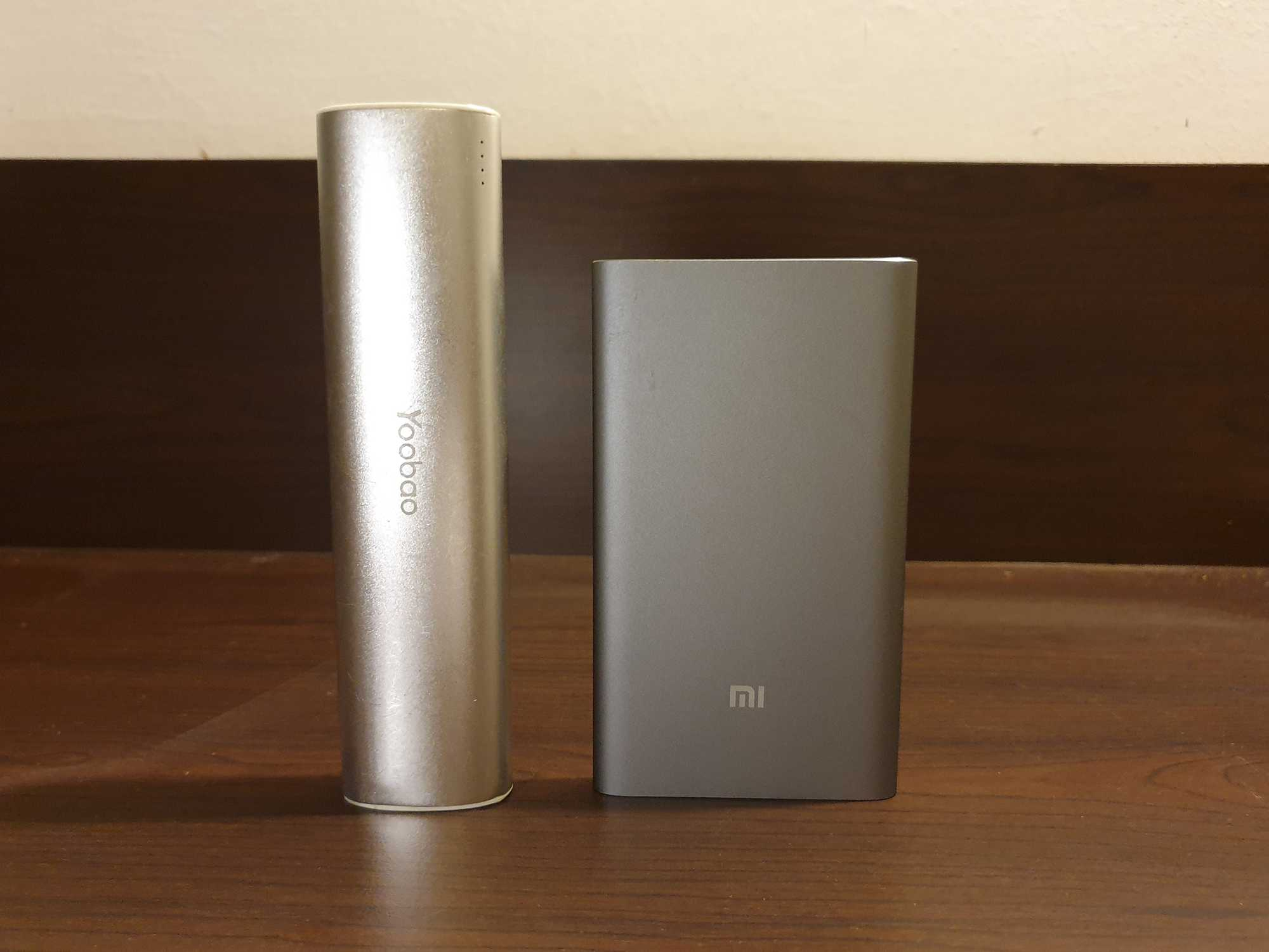 Power Bank Size Compare