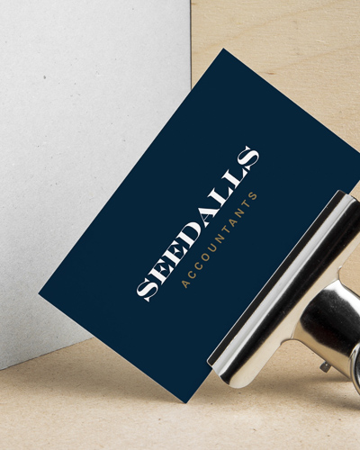Business card design for Seedalls Accountants, designed by Jack Watkins at Jack's Creative Studio