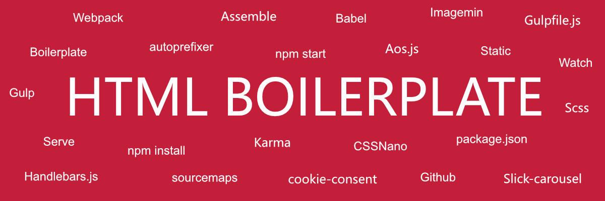 Static website boilerplate