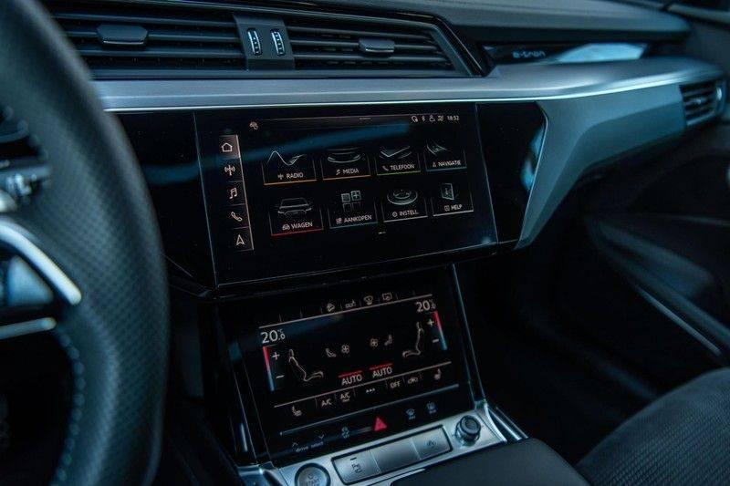 Audi e-tron 55 Quattro Advanced Exterieur, 408 PK, 4% bijtelling, Head/Up display, Pano/Dak, Night/Vision, S-line interieur, 15DKM afbeelding 14