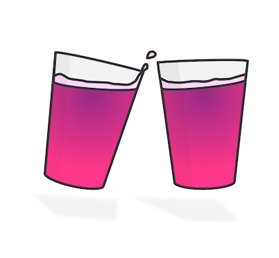 Two pints of snakebite