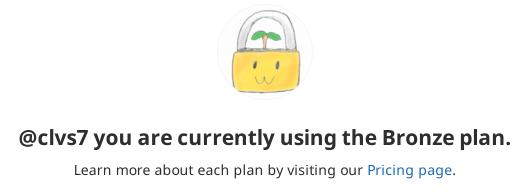 GitLabのBillingページでの表示