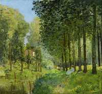 'Rest along the Stream. Edge of the Wood', painted by Alfred Sisley in 1878, Musée d'Orsay