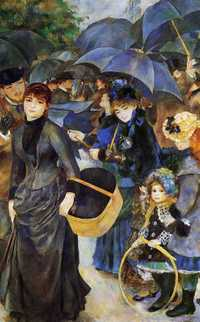 Renoir's The Umbrellas is certainly a striking painting. But is it lacking in charm and intimacy?