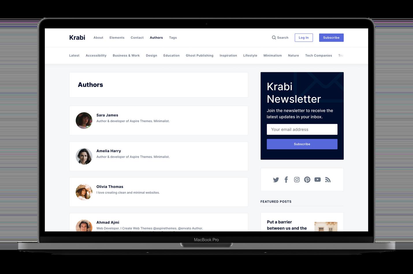 Krabi Authors Page